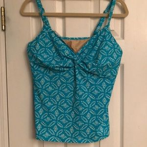 Lands End Teal Tankini Top